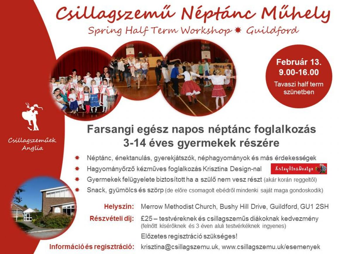 Csillagszemű Spring Half Term Workshop